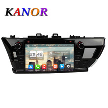 KANOR Android 6.0 Octa Core 2G+32G 9″ 2 Din Car GPS Navigator For Toyota Corolla 2014 2015 With Radio Audio Bluetooth WIFI Map