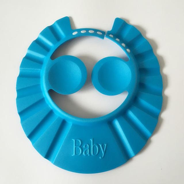 Lactentes e crianças jovens alta Elastic EVA touca de banho Cap Shampoo bebê