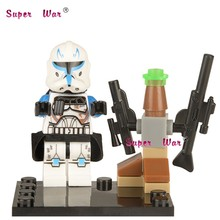 Single Sale star wars superhero marvel avengers Captain Rex building blocks action sets model bricks toys for children(China)