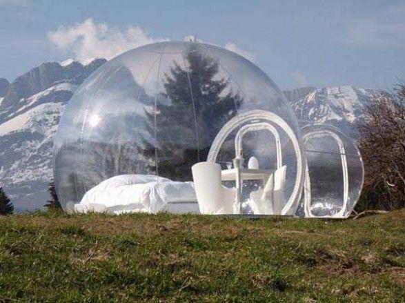 Camping en plein Air gonflable bulle tente jouet tente bricolage maison dôme Camping Lodge Air bulle - 2