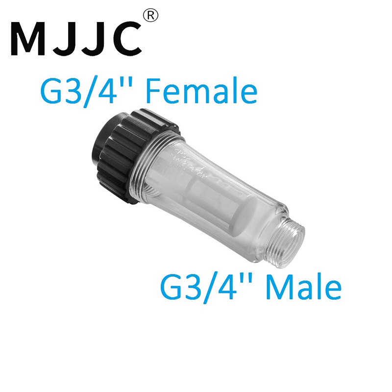 MJJC Brand with High Quality Water Filter for pressure washer 3/4 Female thread and 3/4 Male Thread inlet water filter g 3 4 fitting small mg 033 compatible with all kind of high pressure washers cw119 a