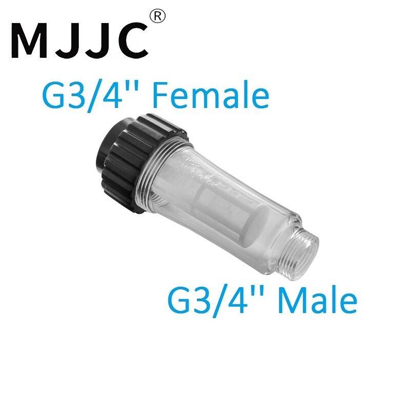 MJJC Marchio con 2018 Filtro Acqua Di Alta Qualità per idropulitrice 3/4 filettatura interna e 3/4 Filettatura Maschio