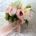 Пляжные свадебные цветы Свадебные букеты фиолетовая Роза романтичный Искусственный Свадебный букет de mariage Crystal