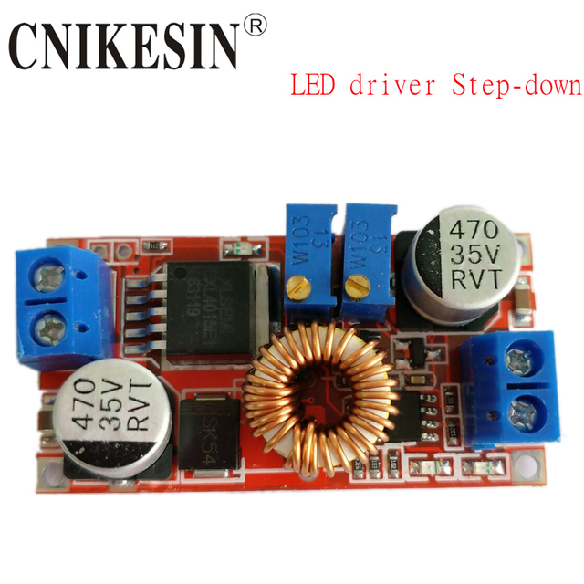 CNIKESIN 5V-32V CCCV  5A Lithium ion Batteries Charging Module LED Driver Step-down Constant Current Power Supply Module
