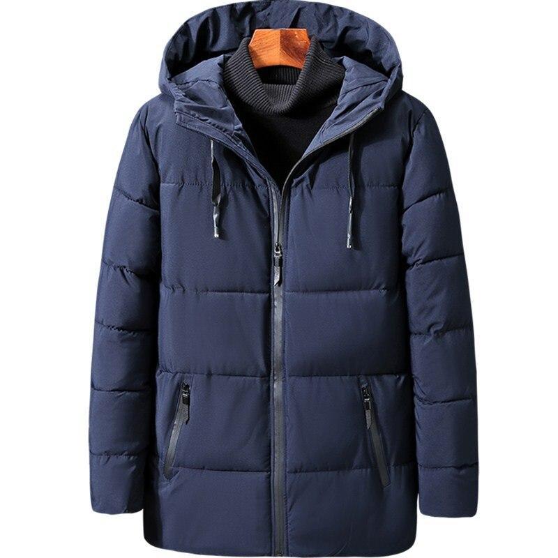 Plus Size 3XL 9XL Men Cotton Padded Jacket Autumn Winter Men Casual Thicken Warm Windbreak Outwear Hooded Varsity Coat