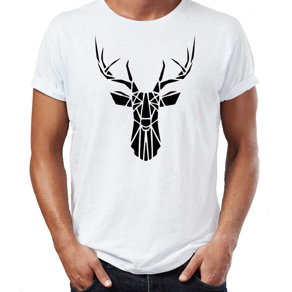 Fashion Classic Aztec Christmas Deer Stag Design Boho Swag Vogue Hipster Indie Mens T Shirt O Neck Top Tee-in T-Shirts from Men\'s Clothing & ...