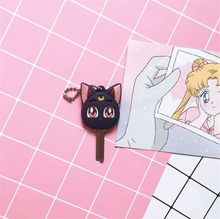 Anime marin lune Luna violet chat porte-clés Cosplay mignon pendentif porte-clés porte-clés A659(China)