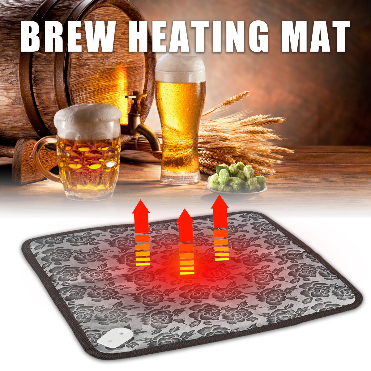 Waterproof Home Brew Heating Heater Mat Pad Wine Beer Spirit Fermentation Pail Keg Pet Warmer Dog Cat Electric Blanket Carpe