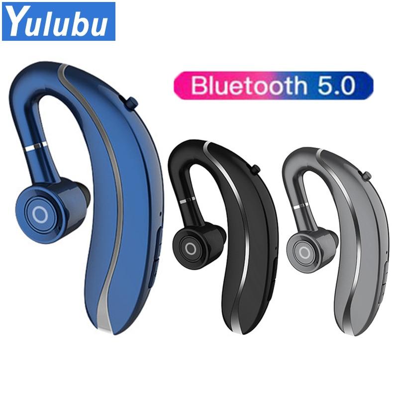 New Q10 Wireless Headphone Earbud Ear Hook Bluetooth 5.0 Earphone 300mAh Single Handfree with Microphone for Driving sport PK V9