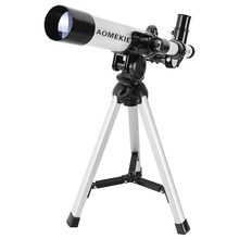 Wholesale AOMEKIE F40040M Beginner Astronomical Telescope with Compact Tripod Compass 20-32x Telescope Kids Toy Gift Scenery Moon Watching