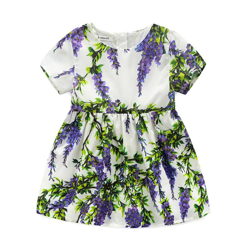 92b36c84ab Aliexpress.com  Comprar Bebé Niñas Lila vestido niños verano ropa de la muchacha  flores púrpuras Vestidos para 100 140 cm de dress kids summer fiable ...