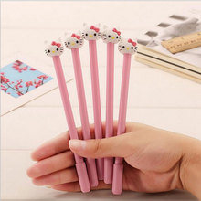kawaii kitty cat neutral pen stationery gel pen office writing pens canetas material papelaria school supplies цена