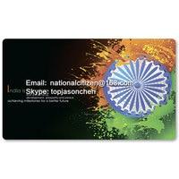 Land Flagge Spielmatten-Indien 53-Brettspiel Mat Tischset Mauspad Mauspad 60x35 CM