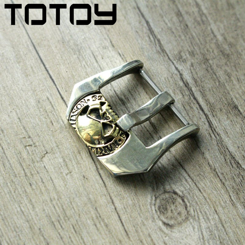 TOTOY White Copper Inlay Brass Buckle, 20MM 22MM 24MM High Quality Leather Strap Buckle,Vintage Buckle,Fast Delivery