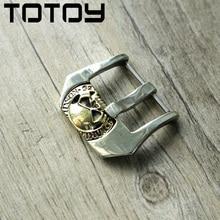 Totoy branco cobre embutimento fivela de bronze, 20mm 22mm 24mm fivela de pulseira de couro de alta qualidade, fivela vintage, entrega rápida