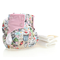 Baby Gift 2 Microfiber Diapers Split Joint Printed Cloth Pants Super Absorbent Breathable Soft Environmentally Friendly