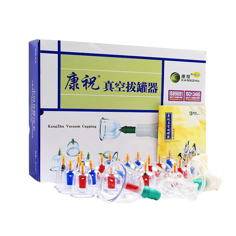 Kangzhu 24-чаша Biomagnetic китайски Cupping терапия Set даване на инструкциите за английски безплатна доставка