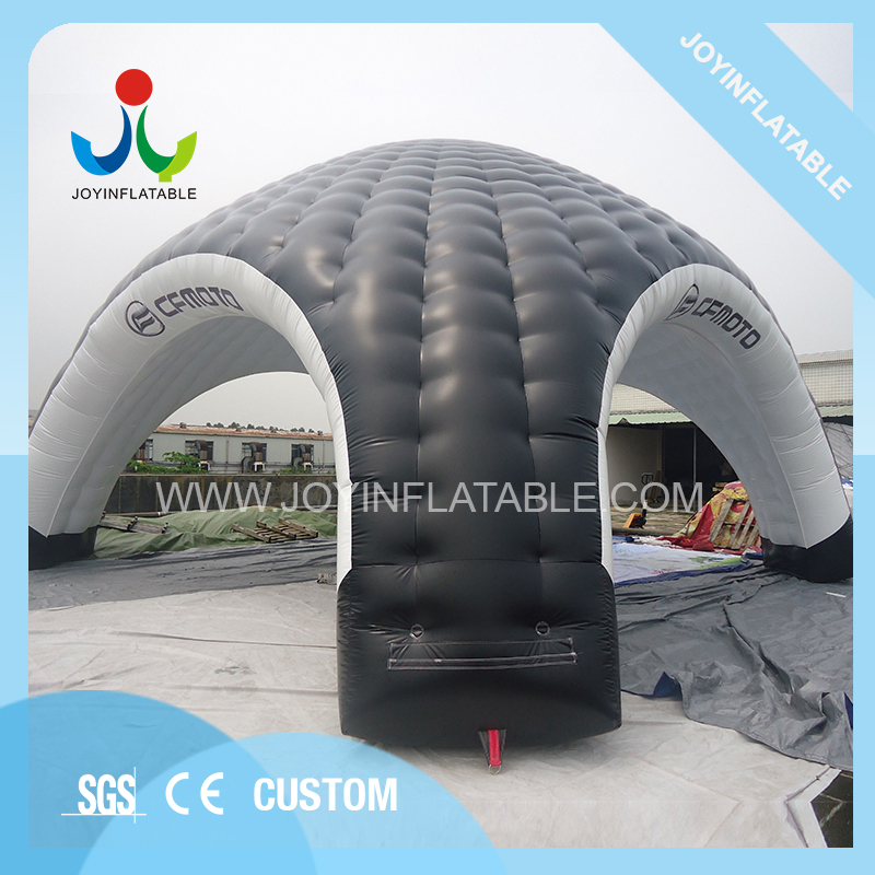 10X10M Gaint Inflatable Domes Car Tent for Camping,Black and White Inflatable Spider Tent with Waterproof - 4