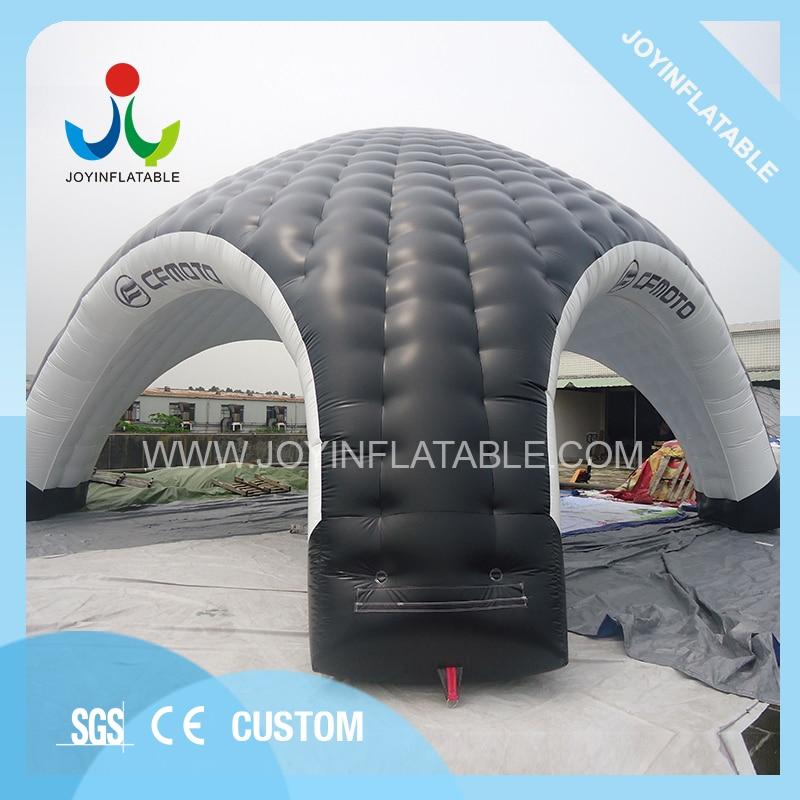 Barraca inflável do carro das cúpulas 10x10 m gaint para acampar, barraca inflável preta e branca da aranha com impermeável - 4