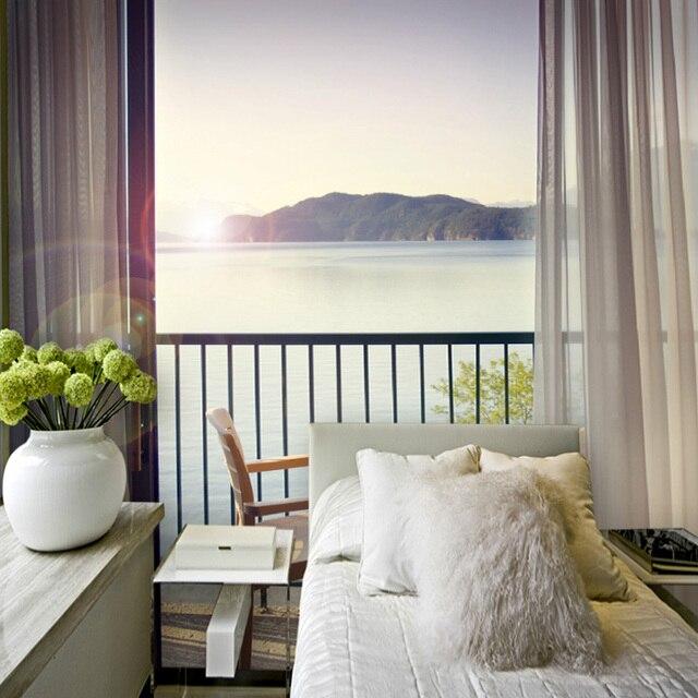 Benutzerdefinierte Grosse Foto 3d Europaischen Stil Balkon Vorhang