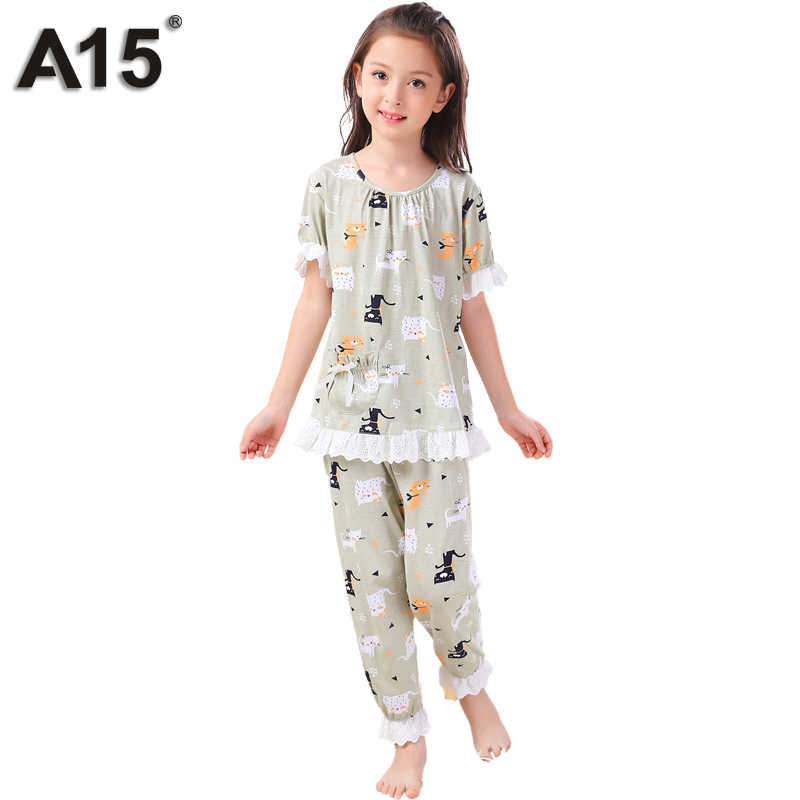 9034ecfc7 Detail Feedback Questions about A15 Sleepwear Kids Pajamas Set Girls ...