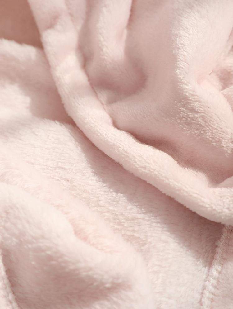 Cute Pink Comfy Blanket Sweatshirt Winter Warm Adults and Children Rabbit Ear Hooded Fleece Blanket Sleepwear Huge Bed Blankets 164