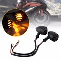 1 Pair Black Grill Bullet Turn Signal Indicator Light Lamp for Harley Davidson Amber Light Motorcycle Turn Signal Indicator
