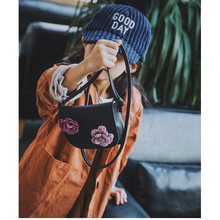 New Cute Mini Bag Children Handbag For Women Cartoon Flower Tassel PU Waterproof Should Bag Kids Girls Fashion Messenger Bags