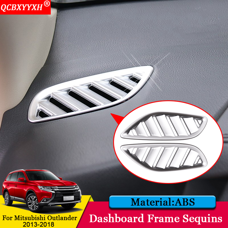 QCBXYYXH Car styling Car Dashboard Outlet Decorative Sequins Cover Auto Stickers Accessories For Mitsubishi Outlander 2013