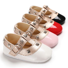 51d06d85da543 Bébé Filles Princesse Chaussures Infant Toddler Mary Jane Mode Doux Rivet  Doux Semelle Anti-Chaussures antidérapantes Bébé Baptê.