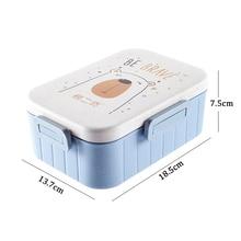 Cartoon Lunch Box Microwave Dinnerware Food Storage