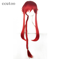 ccutoo 120cm Loki Red Long Braid Shaggy Layered Synthetic Wig Heat Resistance Fiber Halloween Party Cosplay Wigs