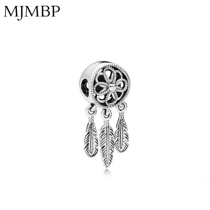 Dreamcatcher Leaves DIY Pendant Charms Nice Fashion Beads Fit Pandoraa Gift For Bracelet & Necklaces Jewelry making Women Gifts(China)