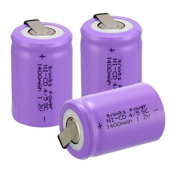 Anmas power! 3 pcs a set high quality Ni-Cd 36g 4/5 SubC Sub C 1.2V 1400mAh Rechargeable Battery with Tab - Purple image