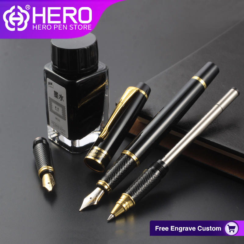 Hero Fountain Pens Original Authentic Writing Supplies High Quality Luxury Iraurita Smoothly Writing Pens 7032 authentic luxury