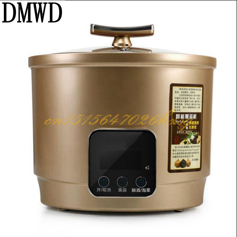 DMWD 90W 6L Household Electric Black garlic machine Pickles maker Aluminum liner Automatic Touch Screen Black garlic fermenter xs black l exces w edp