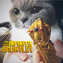 New Avengers Endgame 4 Thanos Gloves 6cm Cat Toys Decoration PVC Figures Collection Model Toys B511 цена и фото