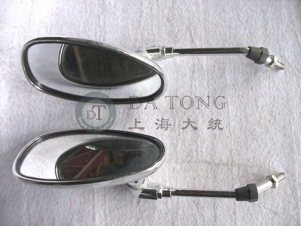 (1pair/lot) High Quality Scooter Mirror set 8mm Lh Thread For Chinese Scooters Honda Yamaha Kawasaki Vespa Motorcycle ATV Moped
