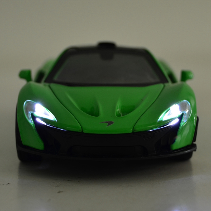 McLaren P1 1:32 Alloy Car Models Soundu0026light Pull Back Kids Toy Double  Horses Supercar Matte Black Free Shipping Gift Collection In Diecasts U0026 Toy  Vehicles ...