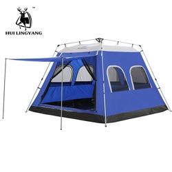 Camping namiot 5-8 osób hydrauliczny automatyczny na zewnątrz duży ponad milion osób powiedziało w zeszłym miesiącu  że piknik wodoodporna wiatroszczelna namioty rodzinne namiot imprezowy