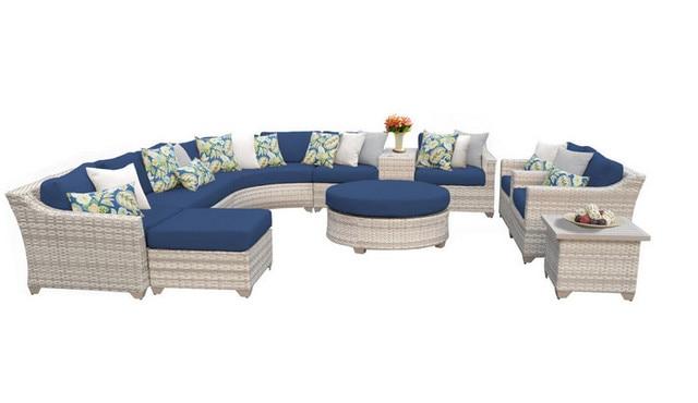 2017 Sigma New Design 12 Piece Outdoor Wicker Patio Furniture Sofa Set