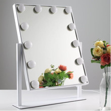Hollywood led light mirror with 12 bulbs 360 degree rotation make up WW/NW/CW color temperature adjustable
