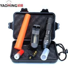 Baton Flashlight Led Police Linternas Lights Powerful Lantern Traffic Equipment Stick Tactical Flashlights + Rechargeable 18650