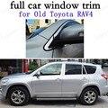 Полное окно отделка автомобиля внешние аксессуары декоративные полосы для Toyota RAV4 09-13 Нержавеющая сталь с центральным столбом