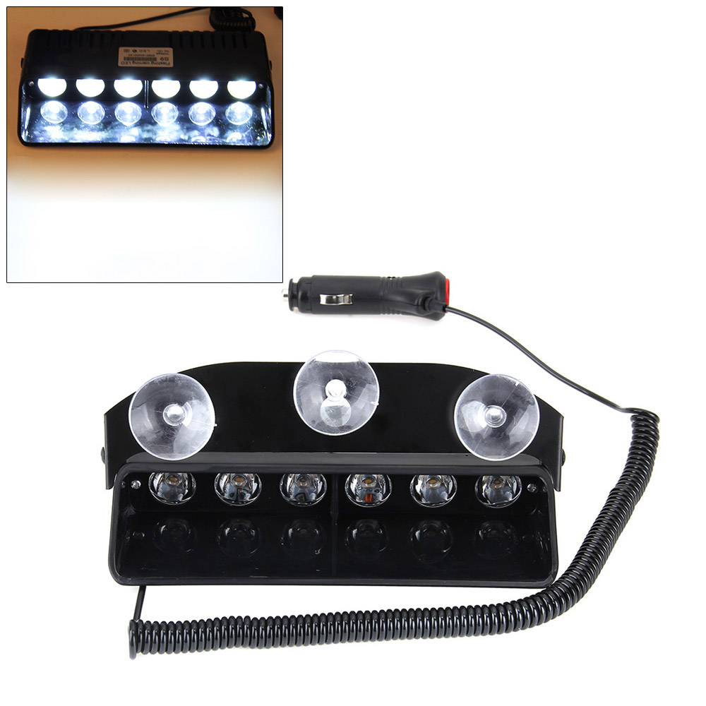 Safety Light Fixtures : Carchet car emergency lights leds white yellow