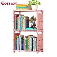 COSTWAY Bookshelf Storage Shelve for books Children book rack Bookcase for home furniture Boekenkast Librero estanteria kitaplik все цены