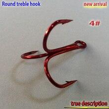 2017new arrival  fishing red treble hook size:4#-14# number:500pcs/lot sharp hooks