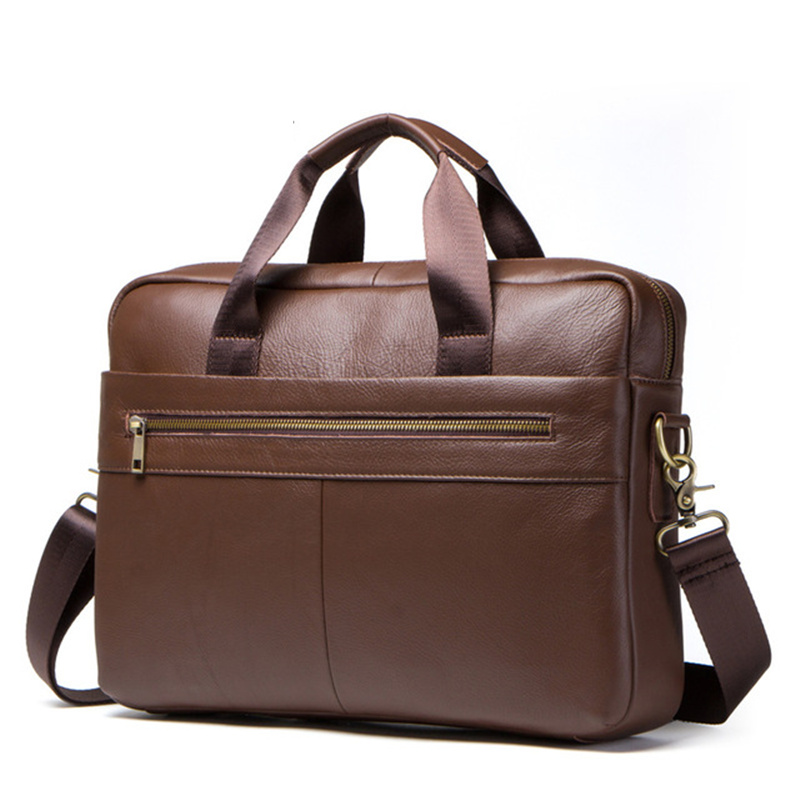 Man's Genuine Leather Briefcase Shoulder Handbag Messenger Crossbody High Capacity Travel Business Bags Fashion Gift Trip Blosa
