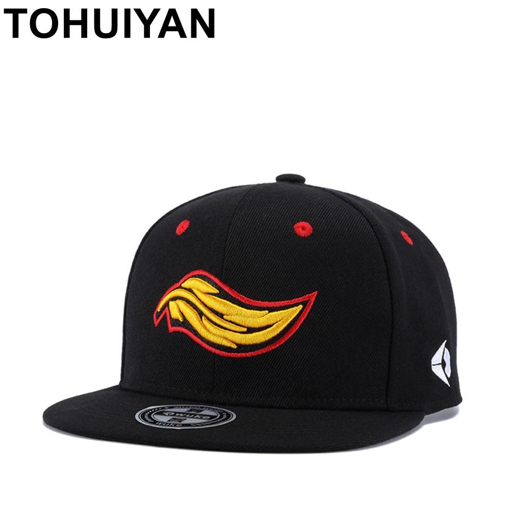 TOHUIYAN 3D bordado del casquillo del Snapback del piso Bill de béisbol  ajustable sombrero hombres mujeres Hip Hop gorras casuales de la marca de  Strapback ... 12214f0c393
