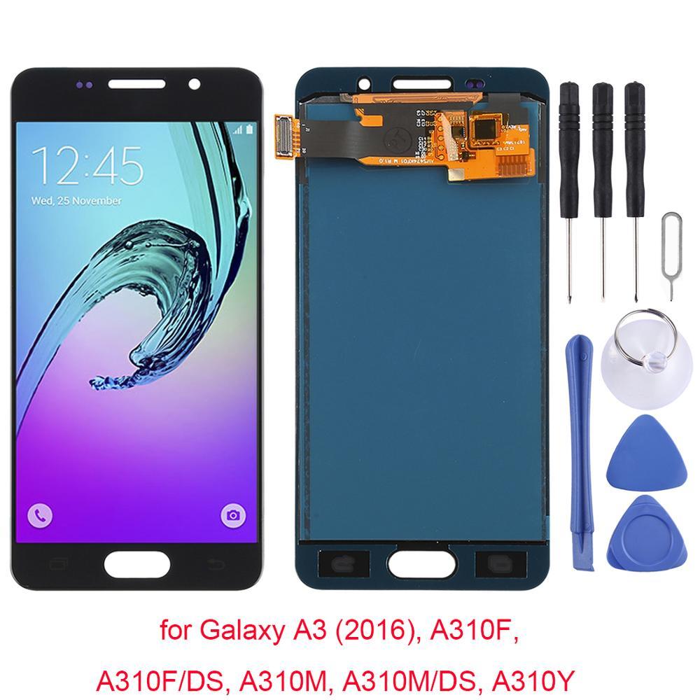 Para Samsung Galaxy A3 (2016), A310F, A310F/DS, A310M, módulo de Display LCD Tela para Samsung SM-A300F A300FU A3000 A3009 exibição